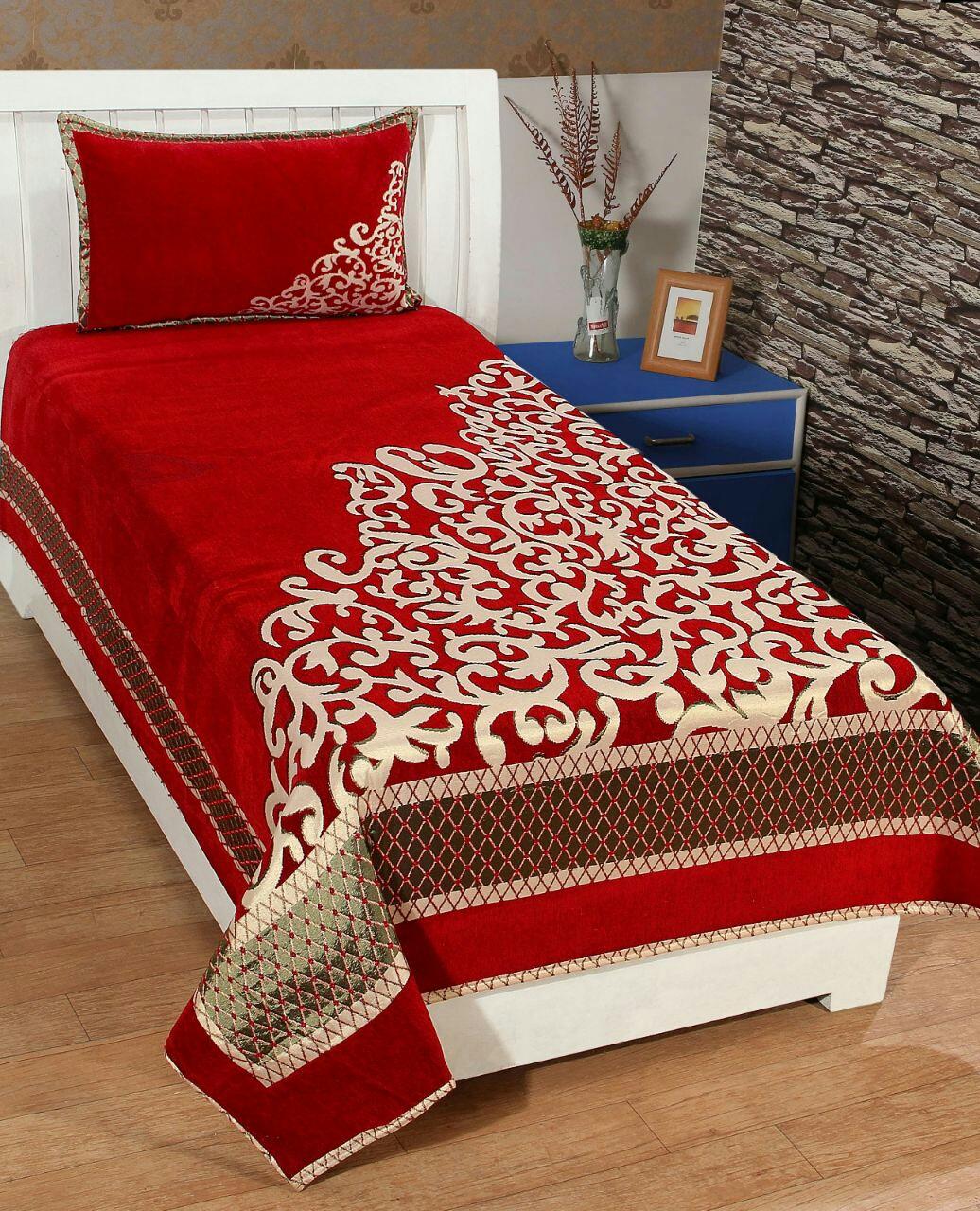 Velvet bedsheet set